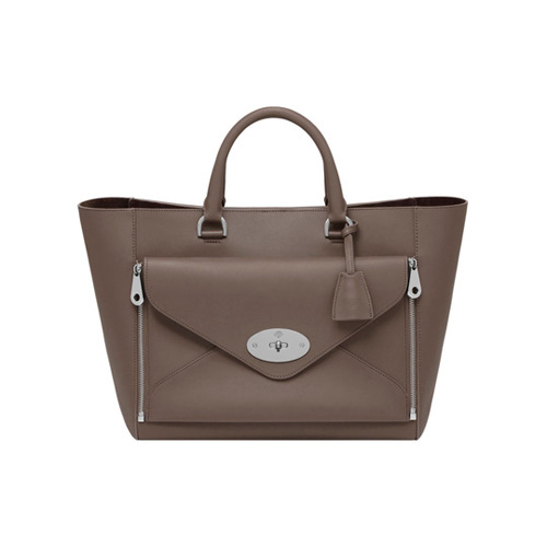 Mulberry Willow Tote Taupe Silky Classic Calf With Nickel