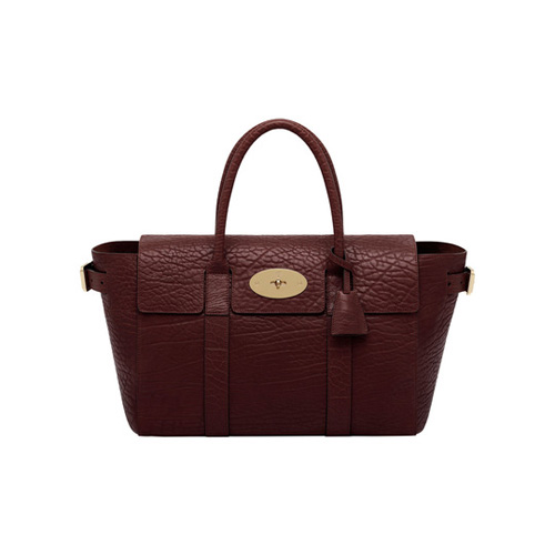 Mulberry Small Bayswater Buckle Oxblood Shrunken Calf