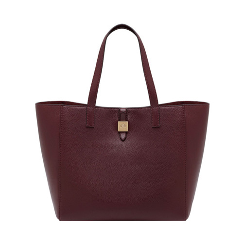 Mulberry Tessie Tote Oxblood Soft Small Grain