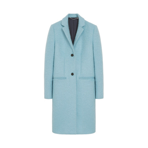 Mulberry Paddington Coat Powder Blue Wool Mohair Coating