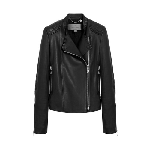 Mulberry Biker Jacket Black Grainy Calf