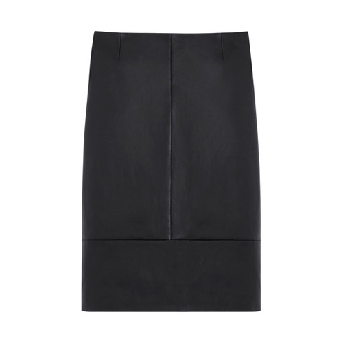 Mulberry Pencil Skirt Black Stretch Bonded Leather