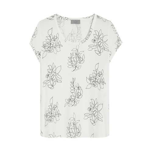 Mulberry Leslie Top Ivory Crepe de Chine